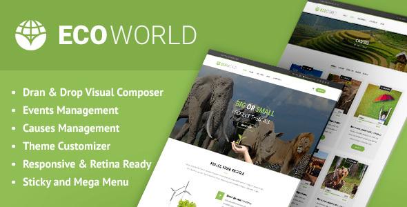 Eco World - Nature and Environmental WordPress Theme