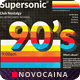 90's Supersonic Music Square Flyer & Social Media Post - GraphicRiver Item for Sale