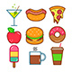 Food and Drink Icons - GraphicRiver Item for Sale