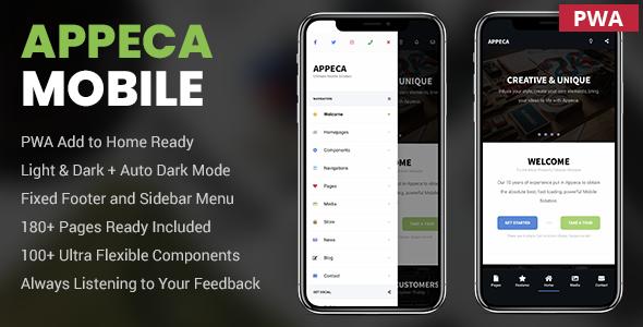 Appeca Ultimate Mobile Template