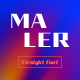 Maler - straight font - GraphicRiver Item for Sale