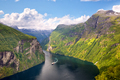 Geiranger Fjord and Seven Sisters waterfalls - PhotoDune Item for Sale