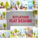 Flat People Scene Situation - GraphicRiver Item for Sale