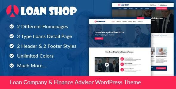 LoanShop – Loan Company & Finance Advisor WordPress Theme