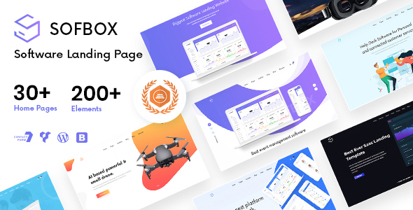 Sofbox - Tech & SaaS Multipurpose Software Landing Page