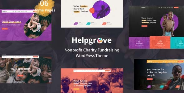 Helpgrove – Charity & Nonprofit WordPress Theme Preview