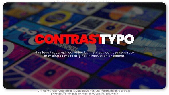 Contrast Typography Promo