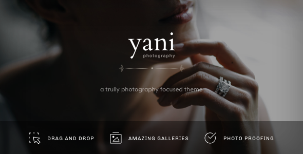 Yani - Clean and Minimalist Photography WordPress Theme