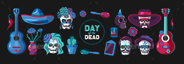 Day of Dead Mexican Set