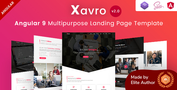 Xavro - Angular 9 Multipurpose Landing Pages