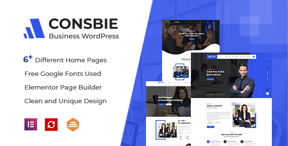 Consbie – Business & Consulting Elementor WordPress Theme Preview
