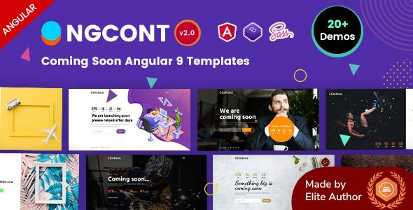 Ngcont - Angular 9 Coming Soon Templates
