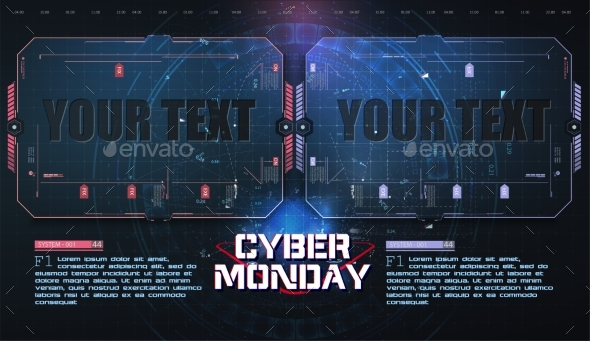 Cyber Monday Technology Circuit Style Background
