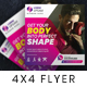 Gym Square Flyer - GraphicRiver Item for Sale