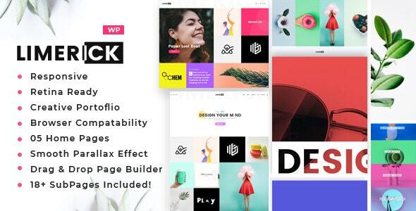Limerick - A Colorful and Modern Multipurpose Portfolio Theme