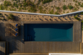 Aerial view of modern villa with pool and deck - PhotoDune Item for Sale