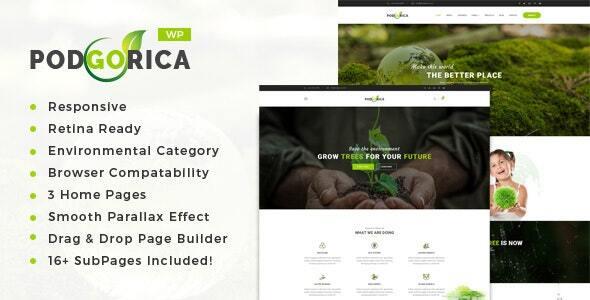 Podgorica - Environment and Renewable Energy WordPress Theme