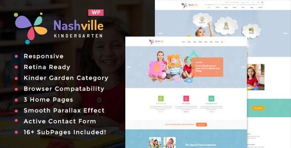 Nashville - Day Care & Kindergarten School WordPress Theme