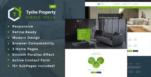 Tyche Properties- Single Property Real Estate WordPress Theme