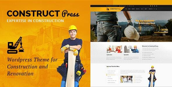 Construct Press - Construction and Renovation WordPress Theme