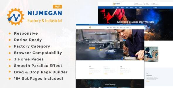 Nijmegan - Factory and Industrial Business WordPress Theme