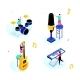 Music Party - Modern Isometric Scenes - GraphicRiver Item for Sale