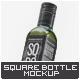 Square Glass Bottle Mock-Up v.1 - GraphicRiver Item for Sale