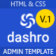 Dashro –  HTML Bootstrap Admin Template - ThemeForest Item for Sale