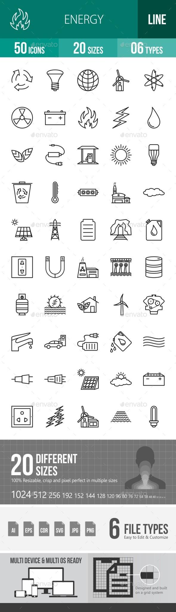 Energy Line Icons Season II