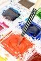 Watercolour Paints and Paint Brush - PhotoDune Item for Sale