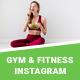 Gym/Fitness Instagram Templates - 05 Designs - GraphicRiver Item for Sale