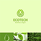 Eco Tech Logo with Leaves and Drop - GraphicRiver Item for Sale