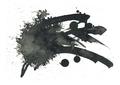 Black ink blot. Isolated on white. - PhotoDune Item for Sale
