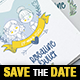 Illustrated Save the Date / Wedding Invitation - Bifold - GraphicRiver Item for Sale