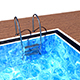 Swimming Pool with Ladder and Wooden Floor - 3DOcean Item for Sale