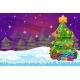 Winter Landscape with Christmas Tree and Gift Box - GraphicRiver Item for Sale