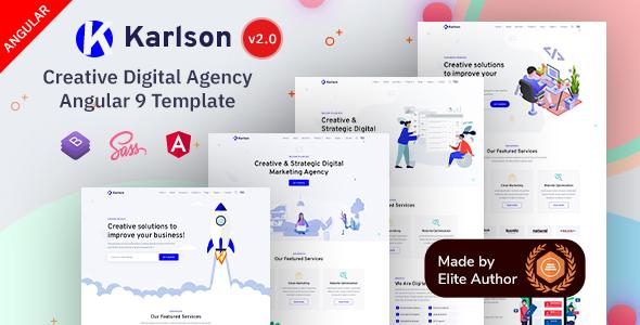 Karlson - Angular 9 Marketing & IT Agency Template