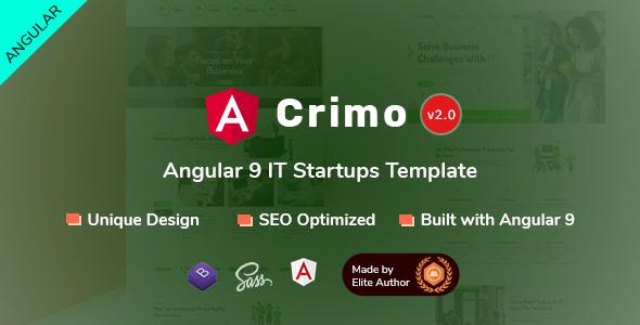 Crimo - Angular 9 IT Startups Template