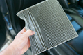 hand hold dirty car air conditioning filter - PhotoDune Item for Sale