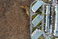 Aerial View of Expanding Flat of Blocks Occupy Virgin Forest - PhotoDune Item for Sale
