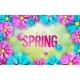 Vector Illustration on a Spring Nature Theme - GraphicRiver Item for Sale