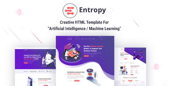 Entropy - Machine Learning & AI Startups HTML Template
