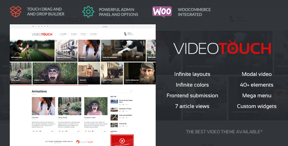 VideoTouch - Video WordPress Theme Download