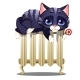 Striped Cat Lying on a Hot Heating Radiator - GraphicRiver Item for Sale