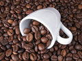 Cup of coffee full of coffee beans top view - PhotoDune Item for Sale