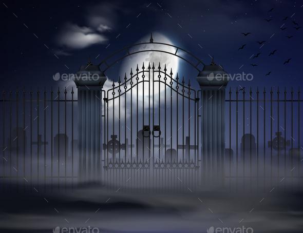 Halloween Realistic Background