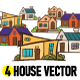 4 House Vector - GraphicRiver Item for Sale