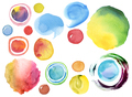 Collection of watercolor hand painted design elements background. Texture paper. - PhotoDune Item for Sale