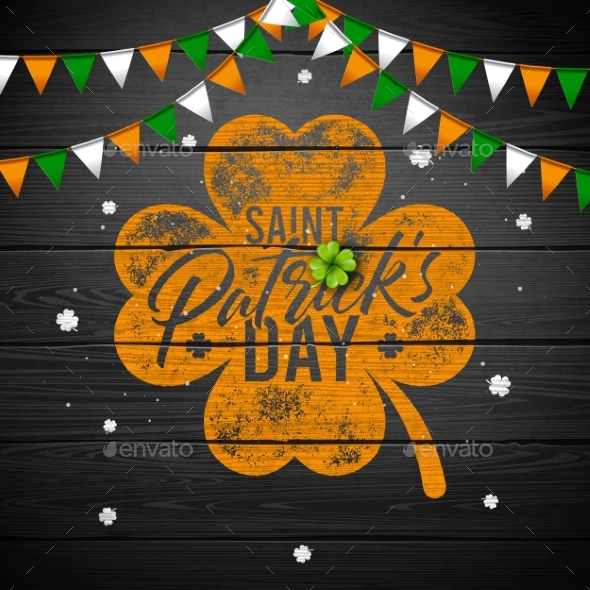 Saint Patrick's Day Design with National Color