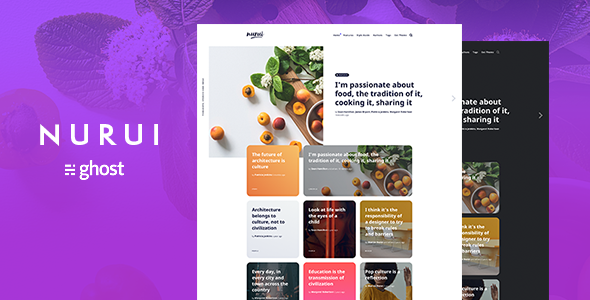 Nurui - Multipurpose Ghost Blog Theme